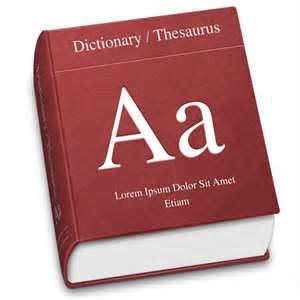 dictionary with letter A